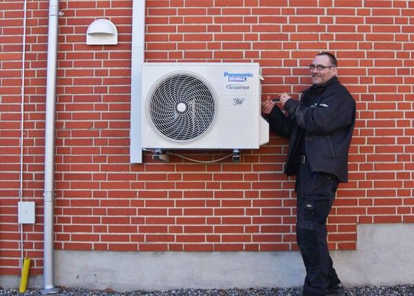 montering af luft vand varmepumpe