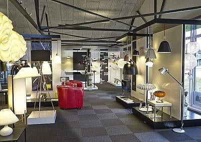 Billede af lampebutik i Skive