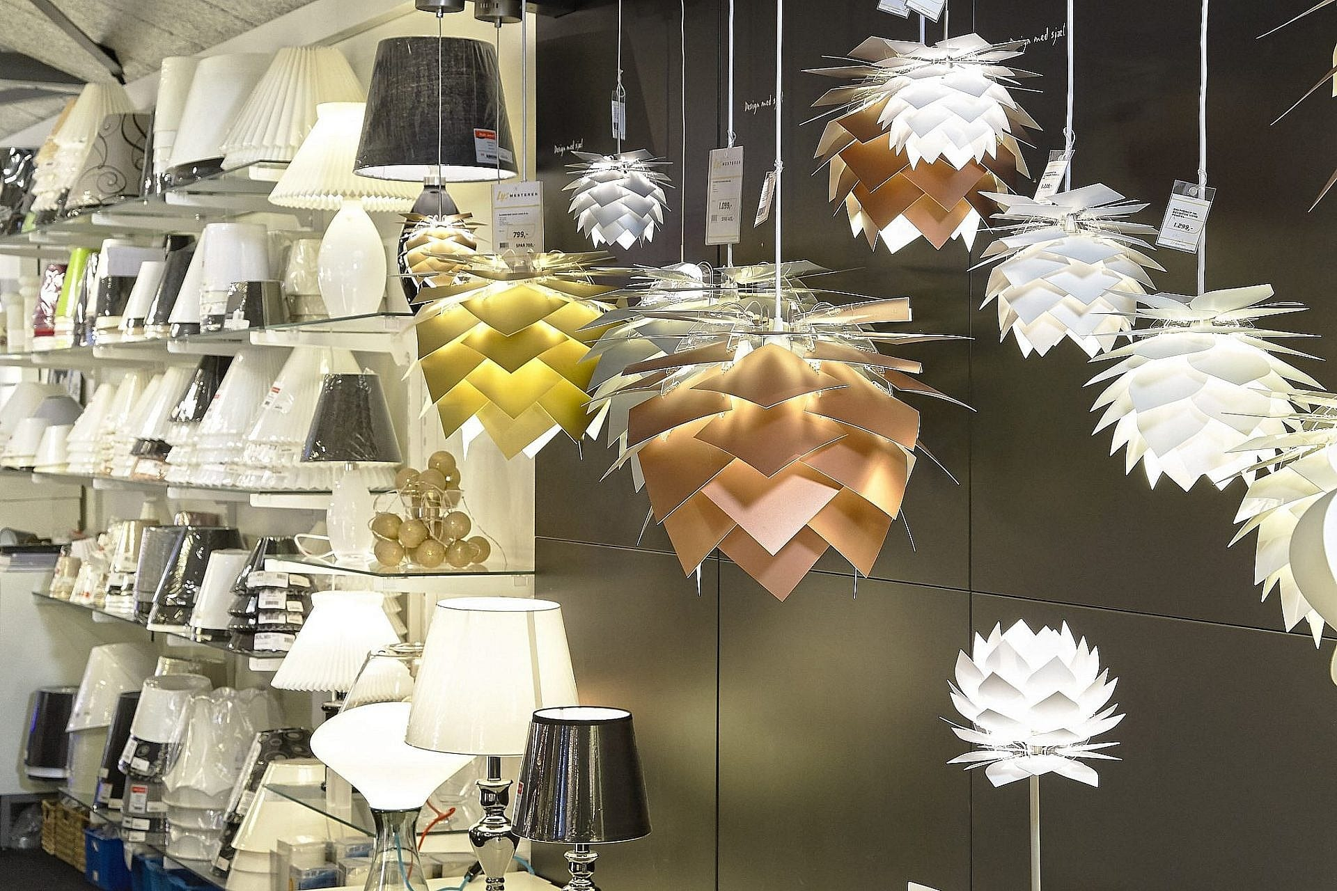 Designerlamper i butik i Skive